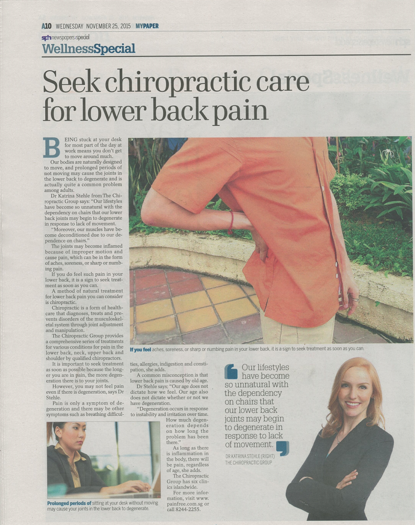 Seek Chiropractic Care for Lower Back Pain